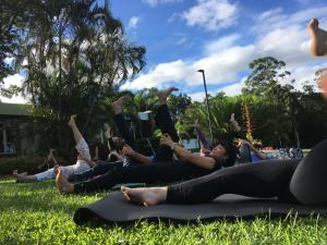 Brisbane Yoga Location: Mt Cootha Botanical Gardens