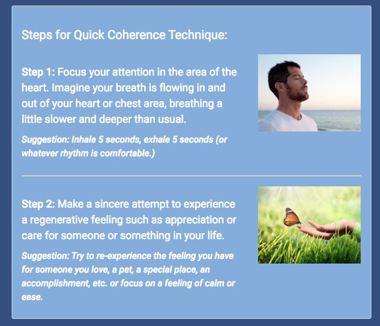 Coherent heart meditation